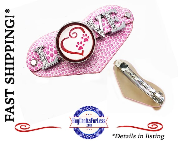 HEART PaW PRiNT Hair BARRETTE- Best Seller - SuPER CuTE! +FReE SHIPPING*