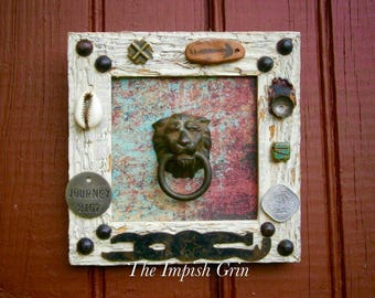 Repurposed Recycled The Journey Mixed Media Assemblage Wall Art