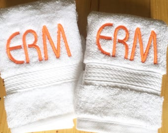 Monogram Guest Towel / Fingertip Towel / Terry Cloth / Face Towel