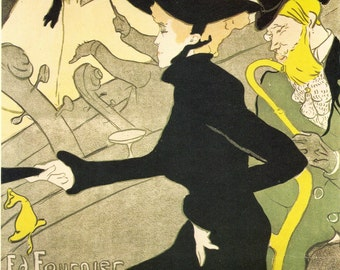 Toulouse-Lautrec - Divan Japonais Poster to Frame or to use in Paper Arts, Collage, Scrapbooking, Mixed Media and MORE PSS 1500