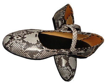 LEATHER HANDMADE SHOES / Leather Handmade / Ballerina / Shoes Handmade / Shoes Leather / Accessories  / Python Shoes.