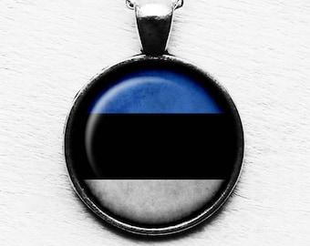 Estonia Estonian Flag Pendant & Necklace