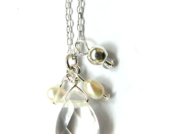 Quartz Freshwater Pearl Necklace