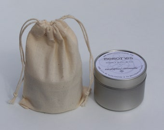 Essential oil soy wax candle. Vetiver: a very natural and masculine note.