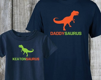 Dinosaur Shirt, Father Son Shirt, Dad and Baby Matching Shirt, Father Day Shirt, Dad And Baby Shirt, Father and Son, Daddysaurus,  (1100)