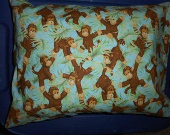 Monkey travel pillow case