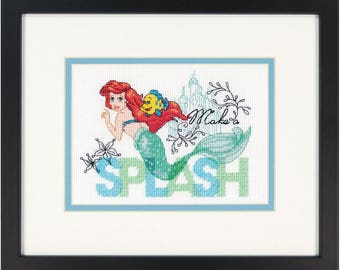Dimensions Counted Cross Stitch Kit - Disney Make a Splash Mermaid