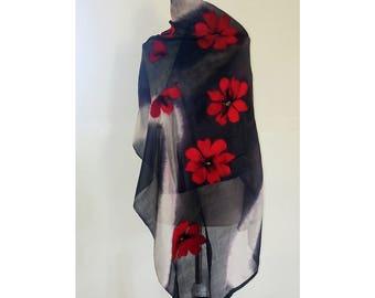 Silk and Wool (Felt) Shawl