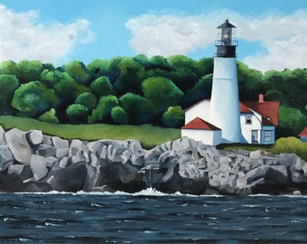 "Original Oil Painting ""The Lighthouse"""