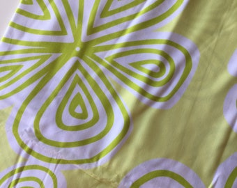 Follow Your Imagination By Prints Charming Big Flowers Lime Green Fat Quarter Quilt Fabric Sewing Fabric Retro Fabric