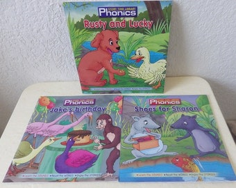 Three Phonics Story Time Library Books. Learn the sounds, Read the Words, Enjoy the Stories