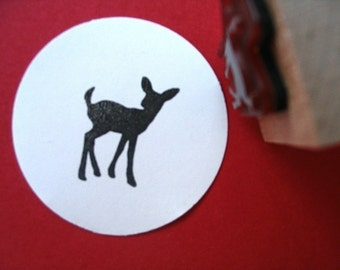 Fawn Deer Rubber Stamp  - Handmade by Blossom Stamps