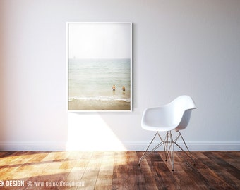 Large 20x30'' Photo / Foggy Summer Beach Day / Minimal Art Photograph For Your Home Walls / Bedroom Decor / Living Room Decor