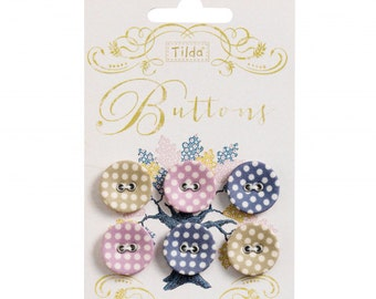 TILDA Autumn Tree Spots - 20mm Fabric Covered Buttons