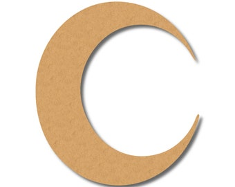 Waxing Crescent Moon Craft Wood Shape, Great Shapes for Party, School, Fun DIY Projects, Item 1321937