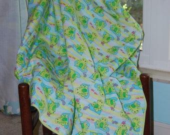 Ribbit baby blanket ~ Ready to ship