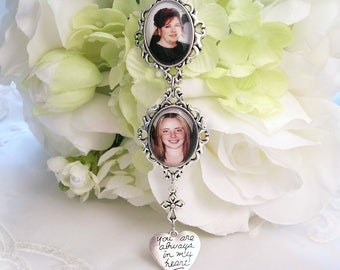 Bridal Bouquet Charm 2 Photo Charms Gift for Bride Double Bouquet Charm Angel Charm for Bouquet Memory Charm Always in My Heart Charm