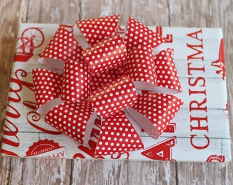 Bow~Large Paper Bow Template ~ Gift Bow Template ~ DIY Digital Download Gift Bow ~ Wrapping Paper Bow Template
