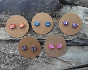 Butterfly earrings, ear studs, post earrings, stud earrings, studs for teenagers, tiny butterfly studs, butterfly jewelry, mothers day gift