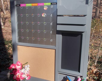A Kitchen organizer/ Magnetic Calendar/Home Decor/ Message Center/Message Board/Office Decor /Command Center/Family Message Board/Furniture