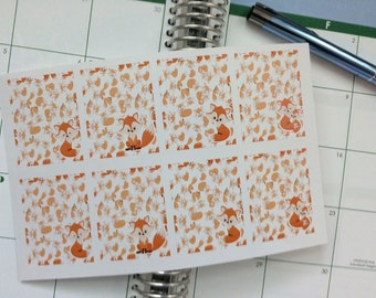 Full Box Planner Stickers, Foxes, Perfect for Erin Condren Life Planner & Other Planners, Box Stickers, Fox Stickers