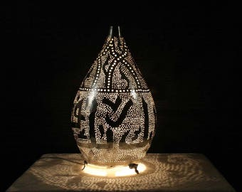 Moroccan table lamp etsy premium handmade moroccan table lamp with arabic calligraphy aloadofball Image collections