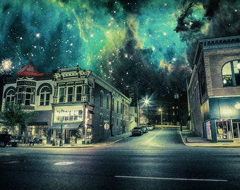 A Haven in the Dark - Limited Edition Canvas Print - Hot Springs, Arkansas Maxine's Live