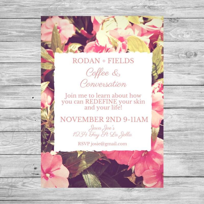 Rodan Fields Invitation Coffee Conversations invite