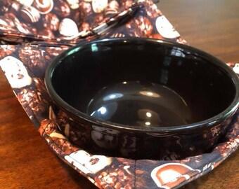 Chocolate Truffle Shuffle Microwaveable Bowl Cozies