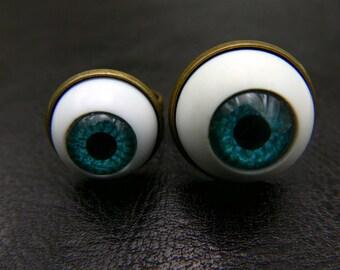Eye ring, eyeball ring, Doll eye jewelry, wings ring