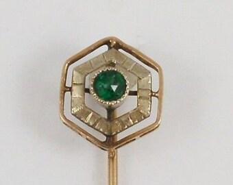 10k Yellow & White Gold Stick Pin