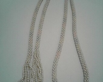 Hot Summer Sale Vintage Faux Pearl Lariat Necklace