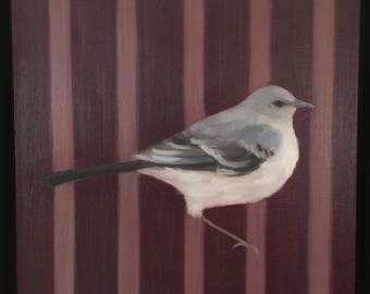 Spöttisch Vogel auf Streifen