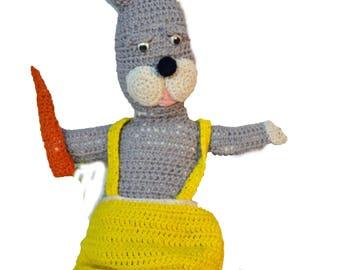 Knit Rabbit Bunny Vintage Easter Bunny