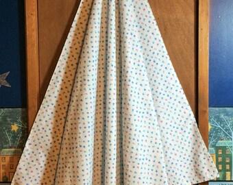 Flannel Receiving Blanket, Pink & Blue Floral
