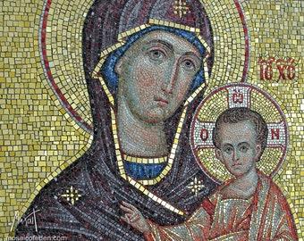 Theotokos with Christ mosaic Icon