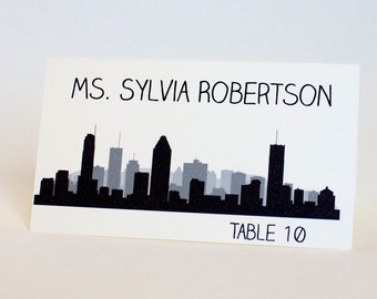 Montreal Place Card Skyline Custom Escort Card Seating Name Guest Card Wedding Decor Canada