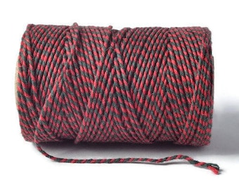 Red & Green 2mm 100% Cotton Bakers Twine *Sold Per 5mtr*