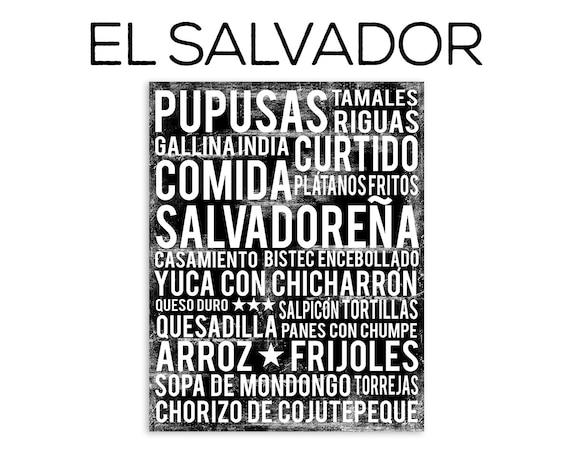 El Salvador Food Subway Art Print Poster