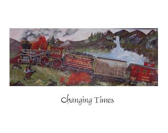 Changing Time Fine Art Print  11 X 30 Giclee Print By Wyoming Artist Joyce Lee