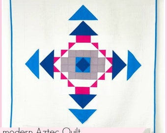 Modern Aztec Quilt PRINTED PATTERN booklet