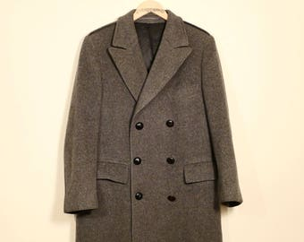 Vintage Wool Double Breasted Overcoat
