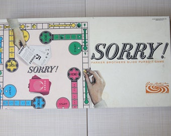 Sorry Board Game 1964 Parker Bros