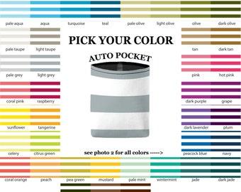 Auto Pocket - Canopy Stripes - PICK YOUR COLOR - Car Accessory Automobile Caddy