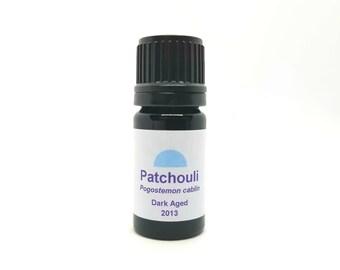 Patchouli Essential oil, Dark aged 2013 (Pogostemon cablin) Organic Aged Vintage 2013 Patchouli Essential Oil Perfumery Fixative and Perfume
