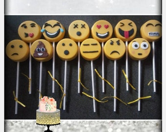 Emoji chocolate covered cookies, Oreos, dipped