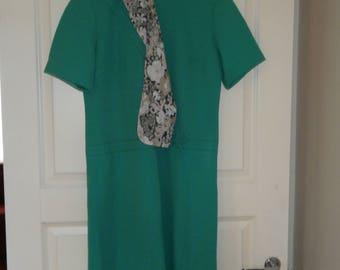 60's Ocean Green Evening Gown