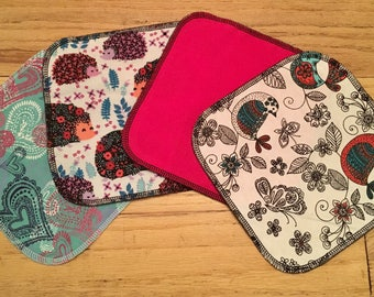 Cloth baby wipes girly