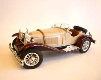 Vintage Mercedes Benz SSK 1928, 1/18 Scale Die Cast Made in Italy