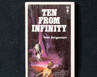 Ten From Infinity by Ivar Jorgensen Vintage Priory Books Science Fiction Paperback #1093 1st Printing Nice!